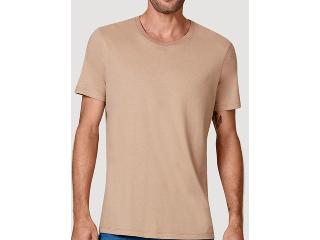 Camiseta Masculina Hering 0201 1jen Bege Escuro - Tamanho Médio