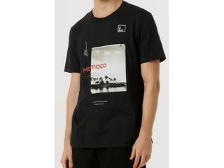 Camiseta Masculina Hering 4f78 N10en Preto - Tamanho Médio