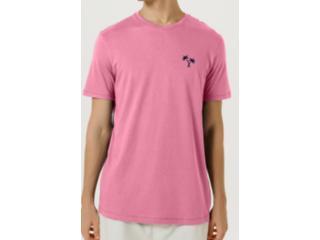 Camiseta Masculina Hering 4fdp Kapen Rosa - Tamanho Médio
