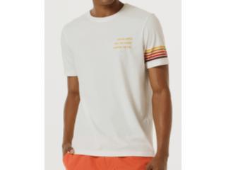 Camiseta Masculina Hering 4f75 Nmcen Off White - Tamanho Médio
