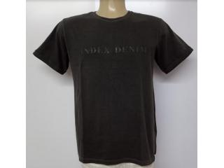 Camiseta Masculina Index 08.02.000380 Preto Estonado - Tamanho Médio