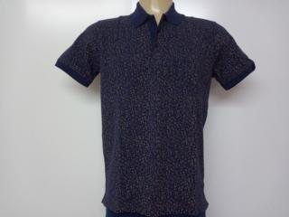 Camiseta Masculina Individual 08.75.0908.94 Marinho/floral - Tamanho Médio