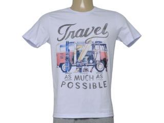Camiseta Masculina King & Joe Ca09025 Branco - Tamanho Médio