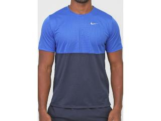 Camiseta Masculina Nike Cj5332-480 Breathe Run to Azul/marinho - Tamanho Médio