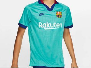 Camiseta Masculina Nike At0029-310 Breathe fc Barcelona Stadium Third Verde/royal/v - Tamanho Médio