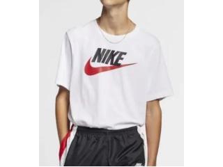 Camiseta Masculina Nike Ar5004-100 Sportwear Branco/preto - Tamanho Médio