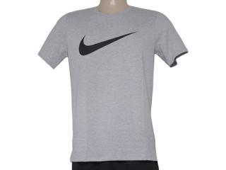Camiseta Masculina Nike 696699-063 Tee-chest Swoosh  Cinza - Tamanho Médio