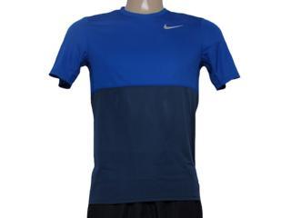 Camiseta Masculina Nike 644396-460 Racer ss Grafite/royal - Tamanho Médio