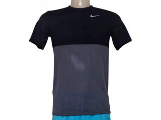 Camiseta Masculina Nike 644396-021 Racer ss  Preto/grafite - Tamanho Médio
