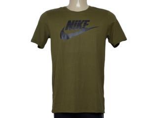 Camiseta Masculina Nike 696707-395 Futura Icon Verde Musgo - Tamanho Médio