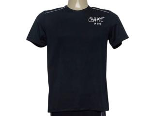 Camiseta Masculina Nike At7840-010 Dri-fit Miler Preto - Tamanho Médio