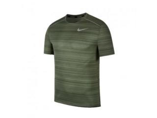 Camiseta Masculina Nike Aj7565-326  Dri-fit Miler Verde - Tamanho Médio