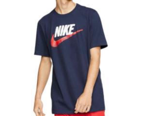 Camiseta Masculina Nike Ar4993-452 Sportswear Marinho/branco - Tamanho Médio