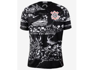 Camiseta Masculina Nike At0035-010 Corinthians Preto/branco - Tamanho Médio