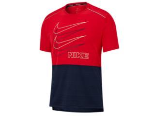 Camiseta Masculina Nike Bv4625-657  df Miler Vermelho/marinho - Tamanho Médio