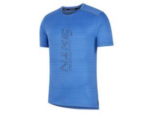 Camiseta Masculina Nike Cj5340-402 Dri Fit Miler Azul - Tamanho Médio
