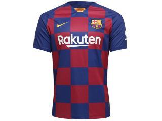 Camiseta Masculina Nike Aj5532-456 Barcelona Stadium 2019/20 Royal/vermelho - Tamanho Médio