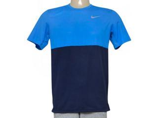 Camiseta Masculina Nike 644396-451 Racer ss  Azul/marinho - Tamanho Médio