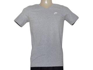 Camiseta Masculina Nike 827023-063 Tee-v Neck Embrd Cinza - Tamanho Médio