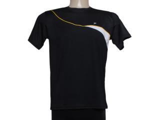 Camiseta Masculina Poker 04590 Preto/branco/amarelo - Tamanho Médio