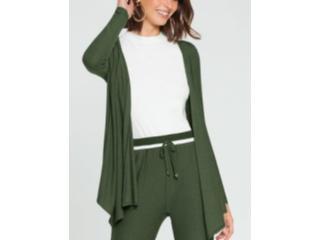 Cardigan Feminino Lunender 60129 Verde - Tamanho Médio