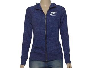 Casaco Fem Infantil Nike 728402-429 Sportswear Gym Azul - Tamanho Médio