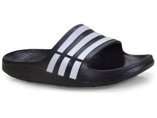 Chinelo Masculino Adidas G15890 Duramo Slide Preto/branco - Tamanho Médio