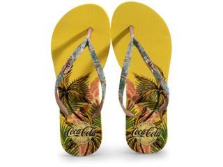 Chinelo Feminino Coca-cola Shoes Cc2877 Amarelo - Tamanho Médio