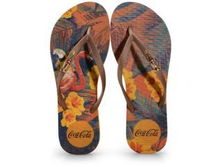 Chinelo Feminino Coca-cola Shoes Cc2991 Amarelo/ouro - Tamanho Médio