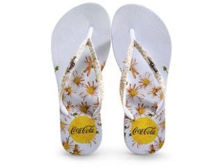 Chinelo Feminino Coca-cola Shoes Cc3110 Branco - Tamanho Médio