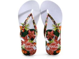 Chinelo Feminino Coca-cola Shoes Cc3111 Branco - Tamanho Médio