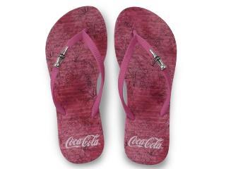 Chinelo Feminino Coca-cola Shoes Cc3145 Pink - Tamanho Médio