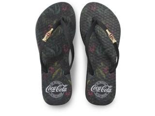 Chinelo Feminino Coca-cola Shoes Cc3128 Preto - Tamanho Médio