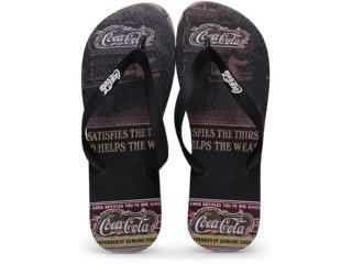 Chinelo Masculino Coca-cola Shoes Cc0254 Preto/café - Tamanho Médio