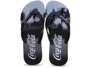Chinelo Masculino Coca-cola Shoes Cc2049 Preto - Tamanho Médio
