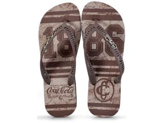 Chinelo Masculino Coca-cola Shoes Cc2338 Preto/marrom - Tamanho Médio