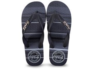 Chinelo Masculino Coca-cola Shoes Cc2389 Preto - Tamanho Médio