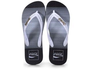 Chinelo Masculino Coca-cola Shoes Cc2565 Preto/branco - Tamanho Médio