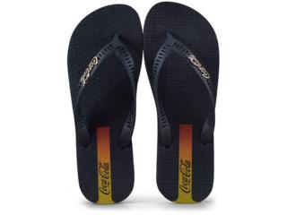 Chinelo Masculino Coca-cola Shoes Cc2618 Preto - Tamanho Médio