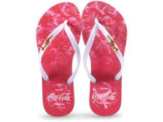 Chinelo Feminino Coca-cola Shoes Cc2586 Rosa Claro/branco - Tamanho Médio