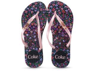 Chinelo Feminino Coca-cola Shoes Cc2869 Preto/rose - Tamanho Médio