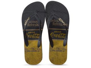 Chinelo Masculino Coca-cola Shoes Cc2644 Preto - Tamanho Médio