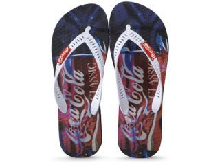 Chinelo Masculino Coca-cola Shoes Cc2858 Preto/branco - Tamanho Médio