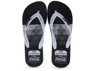 Chinelo Masculino Coca-cola Shoes Cc2768 Branco - Tamanho Médio