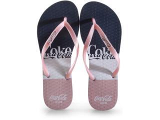 Chinelo Feminino Coca-cola Shoes Cc3007 Branco/rose Metalizado - Tamanho Médio