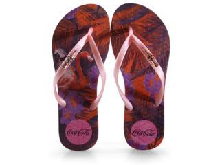 Chinelo Feminino Coca-cola Shoes Cc2991 Pink/rose - Tamanho Médio