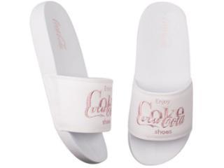 Chinelo Feminino Coca-cola Shoes Cc3158 Branco - Tamanho Médio
