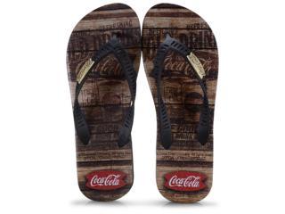 Chinelo Masculino Coca-cola Shoes Cc2680 Preto - Tamanho Médio