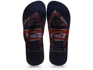 Chinelo Unisex Coca-cola Shoes Cc2644 Marinho/bordo - Tamanho Médio