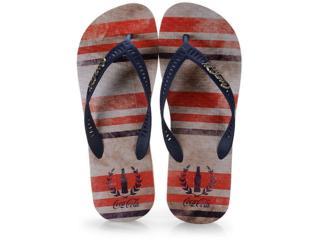 Chinelo Unisex Coca-cola Shoes Cc2642 Bege/marinho - Tamanho Médio